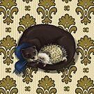 Otter&Hedgehog by beesants