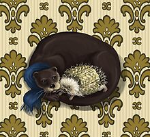 Otter&Hedgehog by beesants
