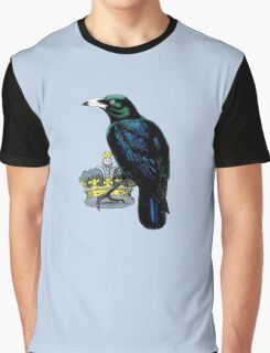 Crow Stealing King's Crown Graphic T-Shirt