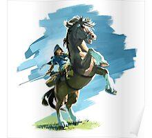 Zelda Breath of the Wild Link on Epona Poster