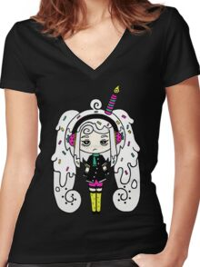 Polar Cake by Lolita Tequila Women's Fitted V-Neck T-Shirt