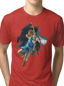 Zelda Breath of the Wild Archer Link Tri-blend T-Shirt