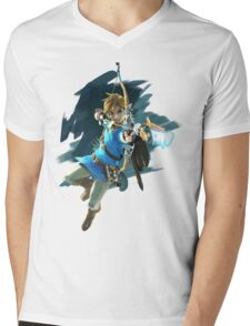 Zelda Breath of the Wild Archer Link Mens V-Neck T-Shirt