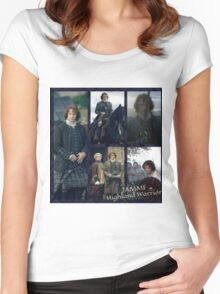JAMMF/Highland Warrior collage  Women's Fitted Scoop T-Shirt