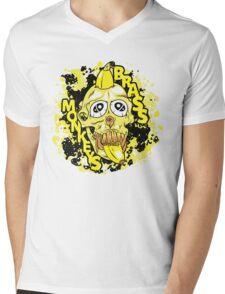 Brass Monkeys | Skull & Banana (White) Mens V-Neck T-Shirt