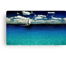 Caribbean Boat Watercolor Canvas Print
