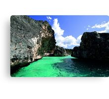 Caribbean Watercolor Canvas Print