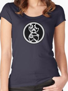 Time Lord - Circular Gallifreyan Women's Fitted Scoop T-Shirt