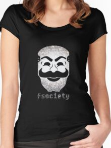 Mr Fsociety Women's Fitted Scoop T-Shirt