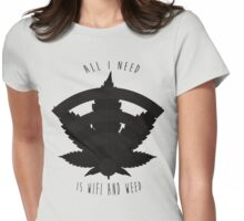 WIFI & Weed Womens Fitted T-Shirt