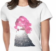 Rose Space Womens Fitted T-Shirt