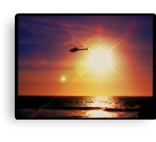 Helicopter Semi-Photobomb Canvas Print
