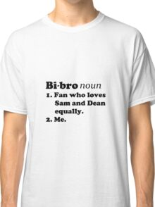 Bi-bros love Sam and Dean Classic T-Shirt