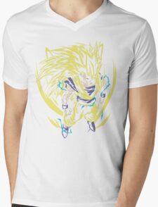 Super Saiyan Goku Shirt - RB00445 Mens V-Neck T-Shirt