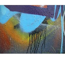 graffiti paint drip Photographic Print