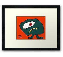 """""""Sly Eye Guy"""" by Richard F. Yates Framed Print"""