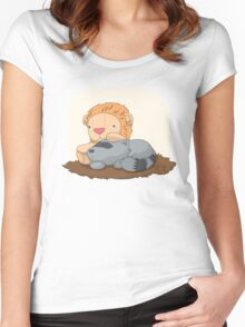 Lexacoon and Her Stuffed Clarke Women's Fitted Scoop T-Shirt
