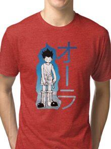 HUNTER X HUNTER GON AURA NEN Tri-blend T-Shirt