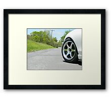 Miata wheel Framed Print