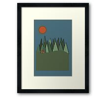 Bear in the Forest Framed Print