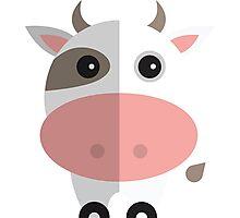 Cow moo Cartoon Photographic Print