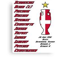 Denmark Euro 1992 Winners Canvas Print