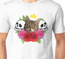 cat and roses Unisex T-Shirt