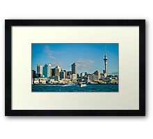 Blue Auckland Framed Print