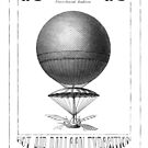 Steampunk Hot Air Balloon Poster Art by Zehda