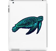 Green aqua sea turtle iPad Case/Skin