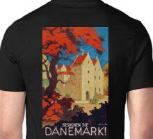 Danemark, Vintage travel ad poster for Denmark Unisex T-Shirt