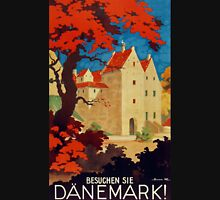 Danemark, Vintage travel ad poster for Denmark Unisex T-Shirt