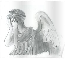 Weeping Angel Doctor Who Sketch Poster