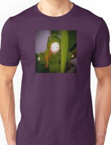 Caterpillar Girl Child on a leaf Unisex T-Shirt