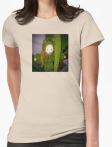 Caterpillar Girl Child on a leaf T-Shirt