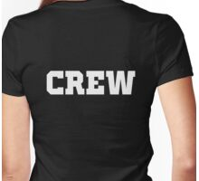 CREW - white letters Womens Fitted T-Shirt