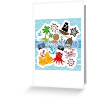 Happy Birthday Card pirate Greeting Card