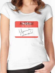 Actually, My Name's Marina Women's Fitted Scoop T-Shirt