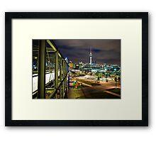 Auckland from Silo Park Framed Print