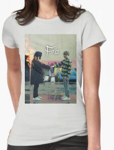 BTS FIRE  Womens Fitted T-Shirt