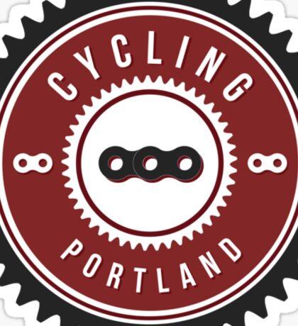 Cycling Portland Chain Ring Sticker