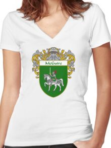 McGuire Coat of Arms/Family Crest Women's Fitted V-Neck T-Shirt