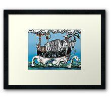Zoo island Framed Print