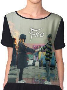 BTS FIRE  Chiffon Top