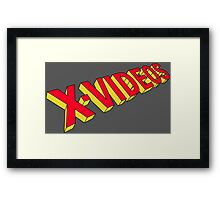 x-men x-videos Framed Print