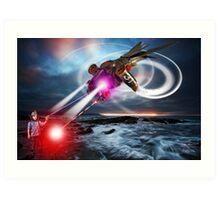 RayGun Rex v Aerial Terminator Art Print