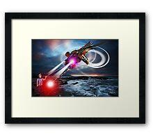RayGun Rex v Aerial Terminator Framed Print