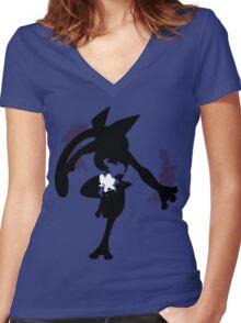 Froakie - Frogadier - Greninja ( Evolution line ) Women's Fitted V-Neck T-Shirt