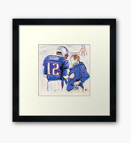 Brady - Belichick Framed Print