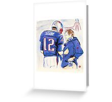 Brady - Belichick Greeting Card